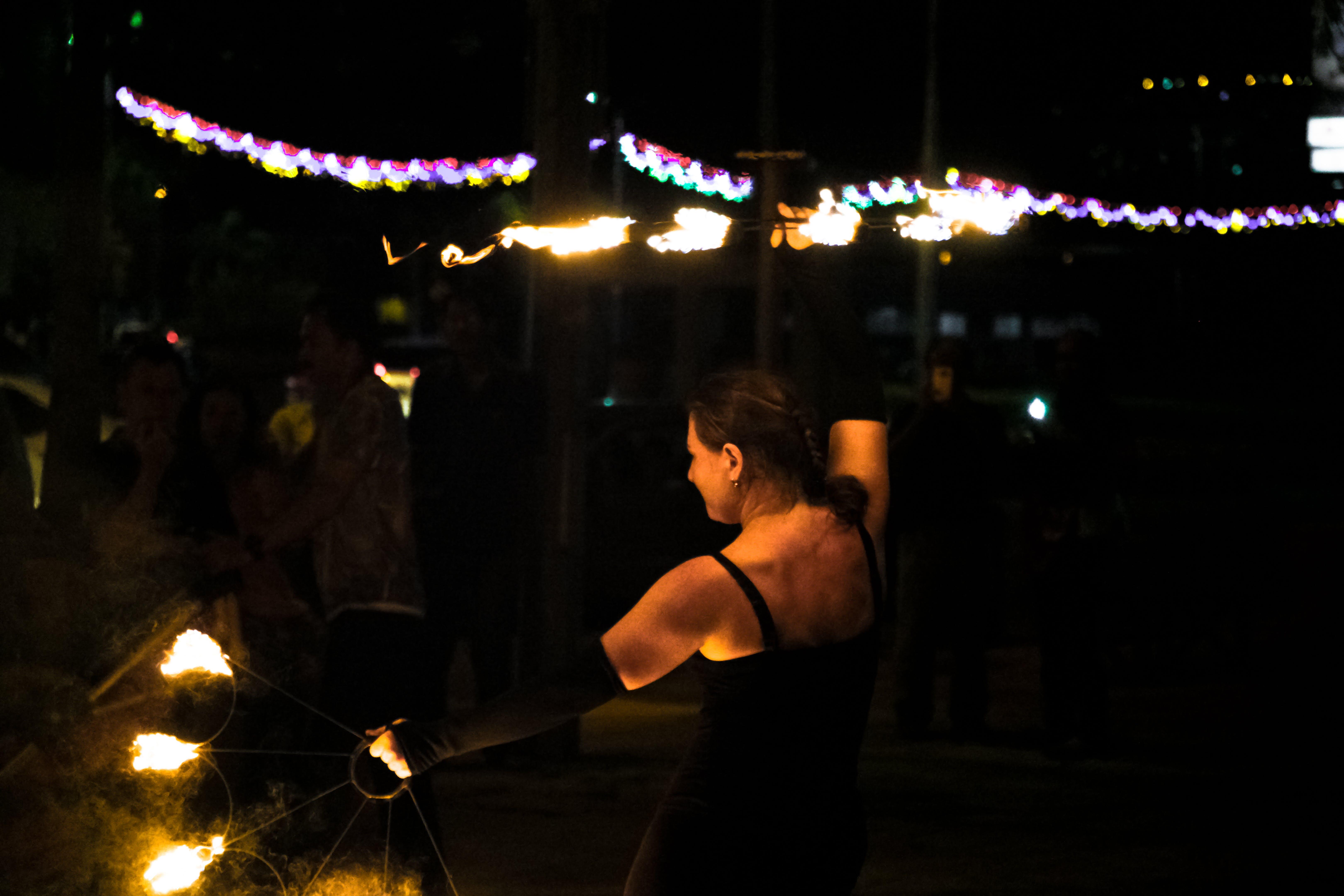 Kostenloses Stock Foto zu aufführung, feuer, frau, tanzen