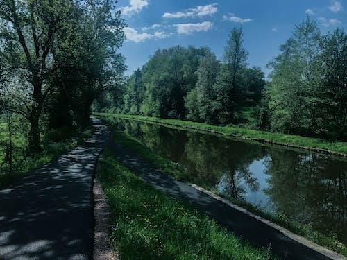 Fotobanka sbezplatnými fotkami na tému Francúzsko, krajina, modrá obloha, modrá voda