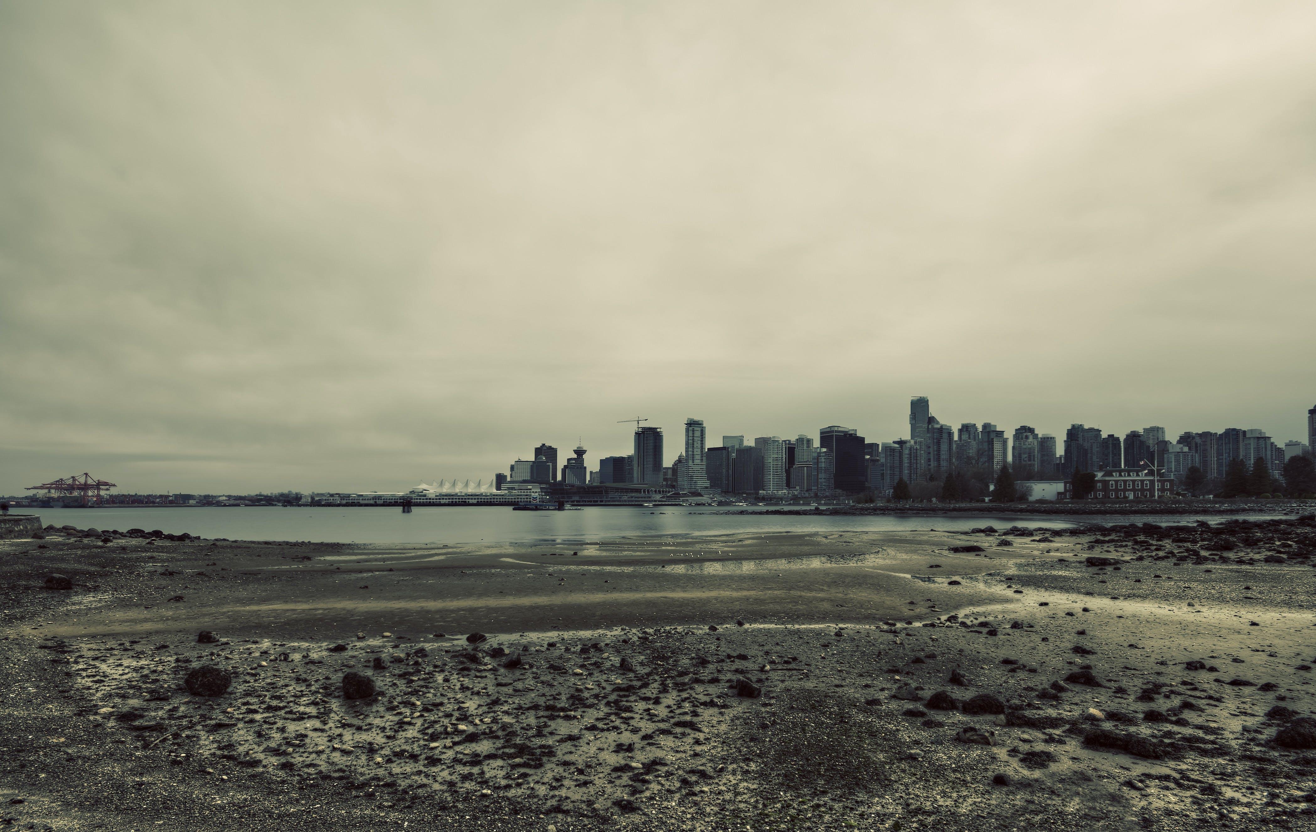 Free stock photo of sea, city, landscape, sky