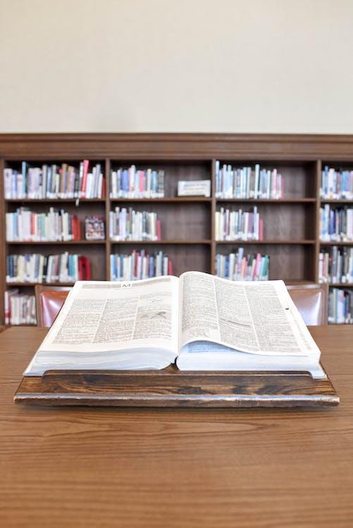arkitektur, bibliotek, bibliotek interiör