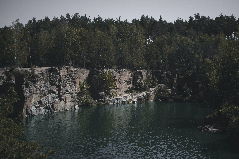 Body of Water Near Cliff