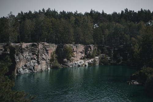 Body of Water Near Cliff