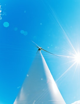 Free stock photo of blue sky, turbine, energy, renewable energy