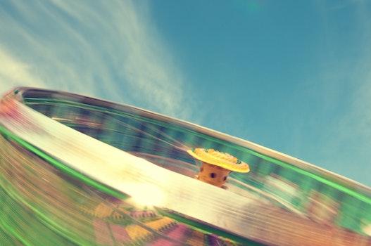 Free stock photo of blur, long-exposure, amusement park, ride