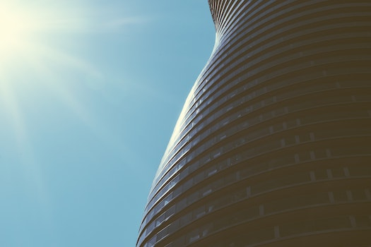 Free stock photo of sky, building, architecture, curves