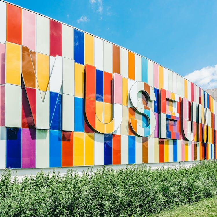 Multicolored Museum Sign