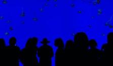 people, blue, dark
