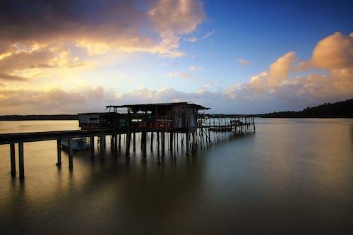 Ảnh lưu trữ miễn phí về bình minh, bờ biển, bóng, cầu