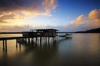 jetty, dawn, landscape