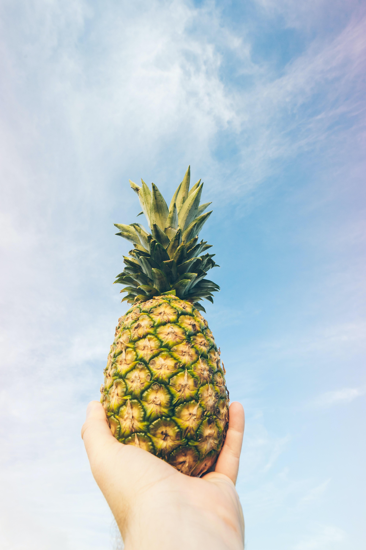 pineapple fruit on gray table  u00b7 free stock photo