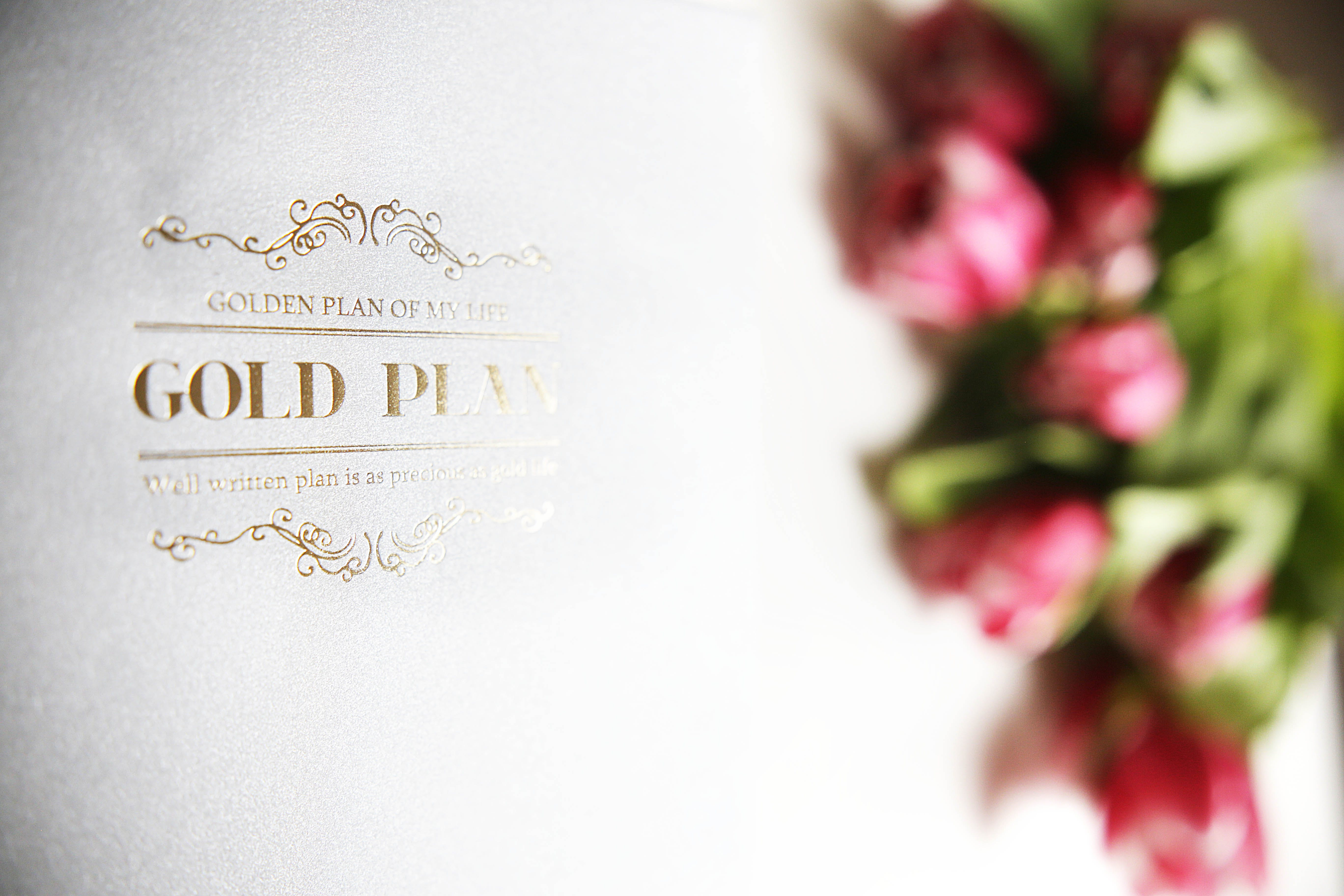 Free stock photo of The Gold Plan with flowers