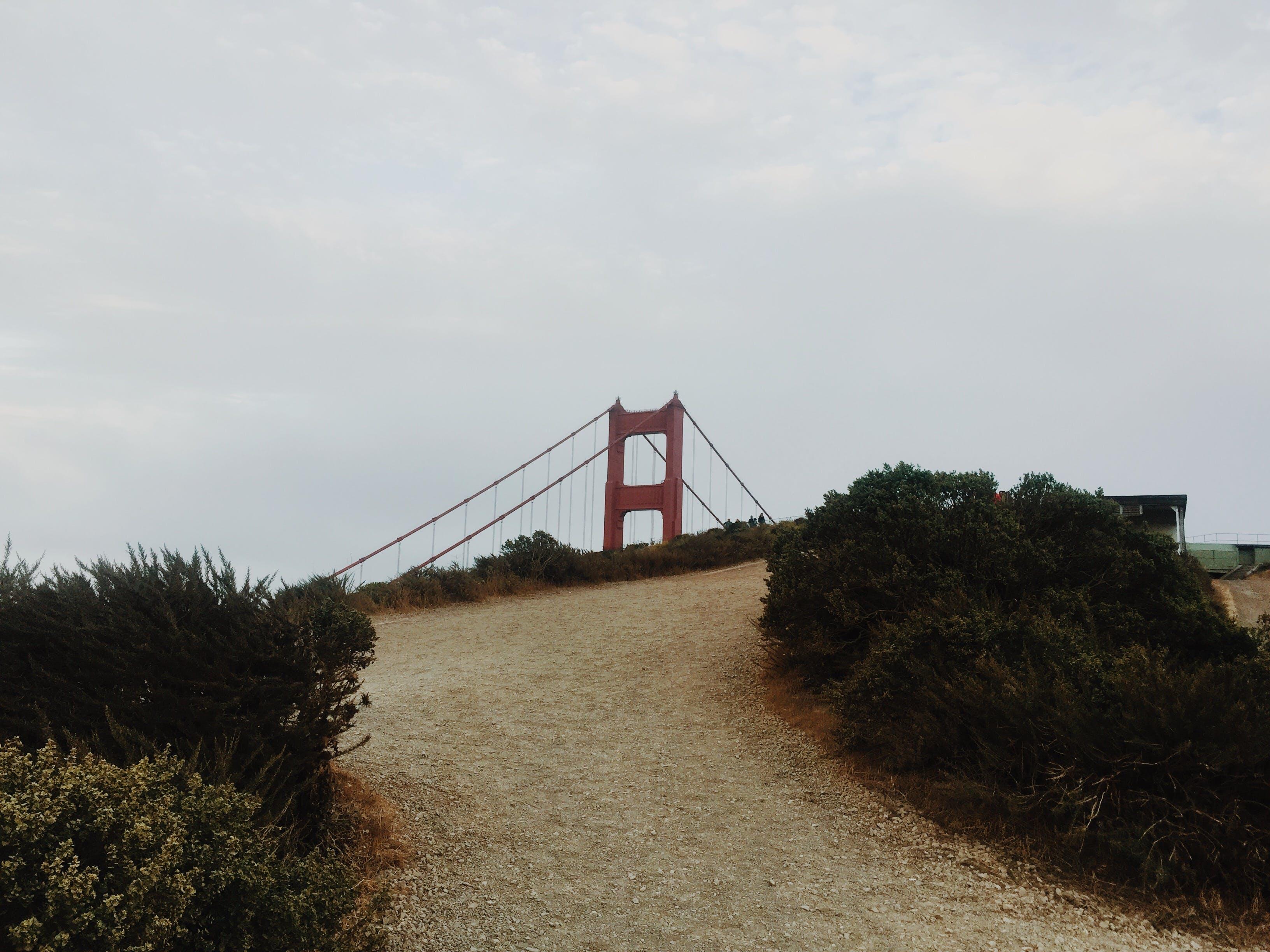 Free stock photo of bridge, golden gate bridge, hike, path