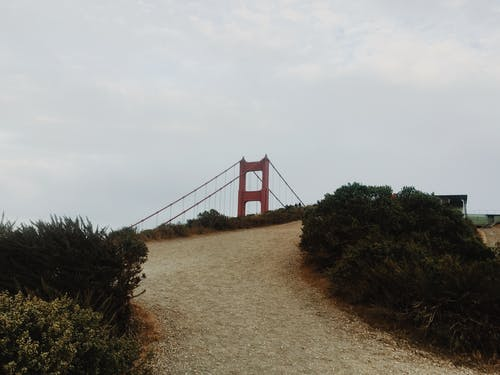 Free stock photo of bridge, golden gate bridge, hike, path