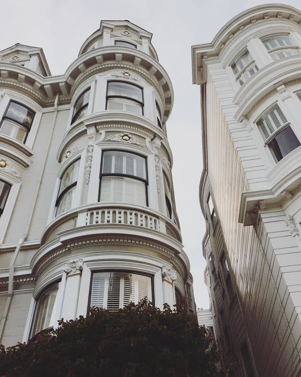 Free stock photo of city, houses, tall houses