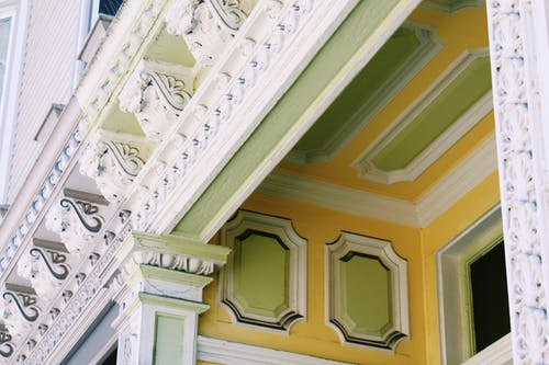 Free stock photo of architecture, facade, ornate, porch