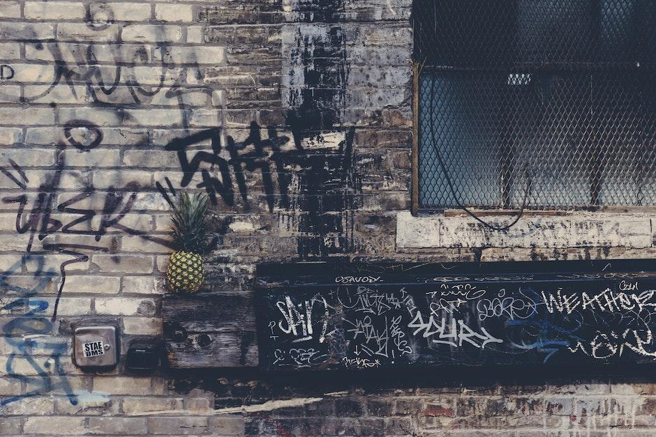 alley, bricks, building