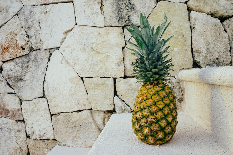 fruit, golden, pineapple