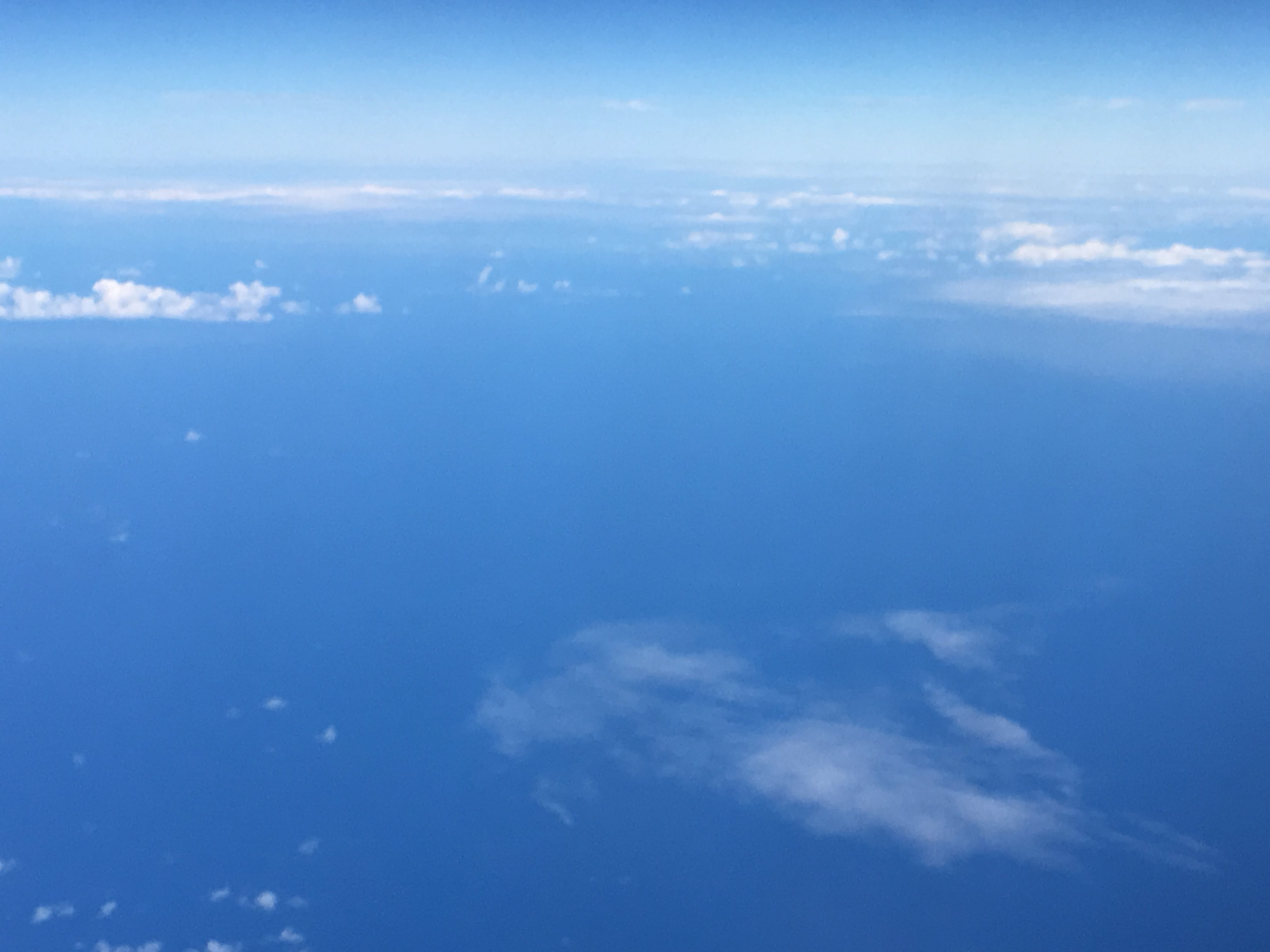 Free stock photo of airplane, blue sky, clouds, pacific ocean