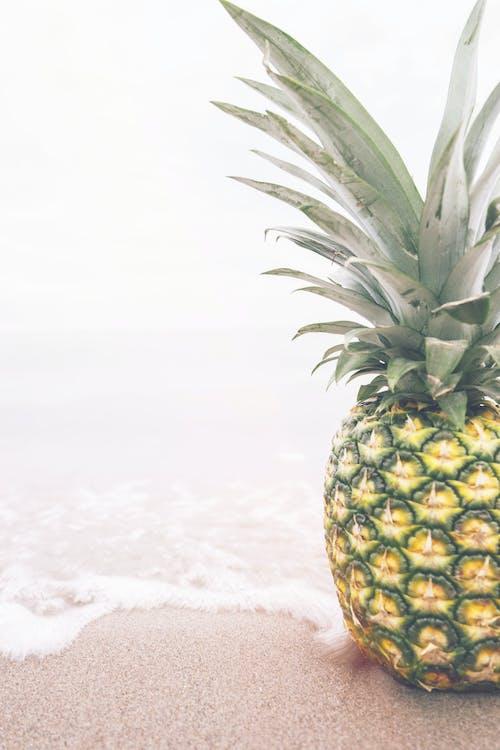 їжа, ананас, берег моря