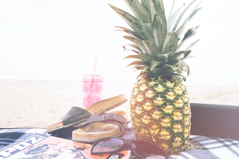 Pineapple Fruit Beside Sandals
