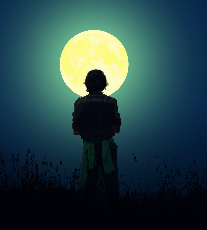 Free stock photo of full moon, travel