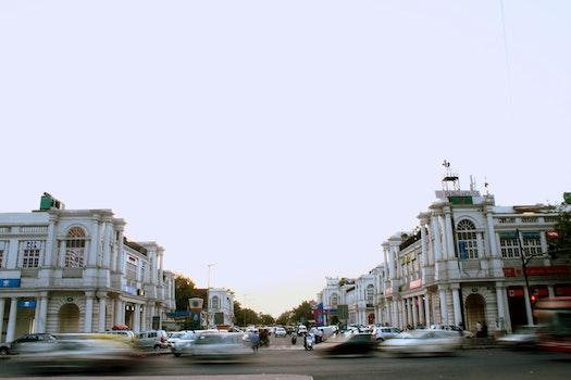 Free stock photo of cars, traffic, street, motion