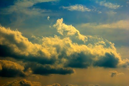 Imagine de stoc gratuită din albastru, auriu, cer, fundal