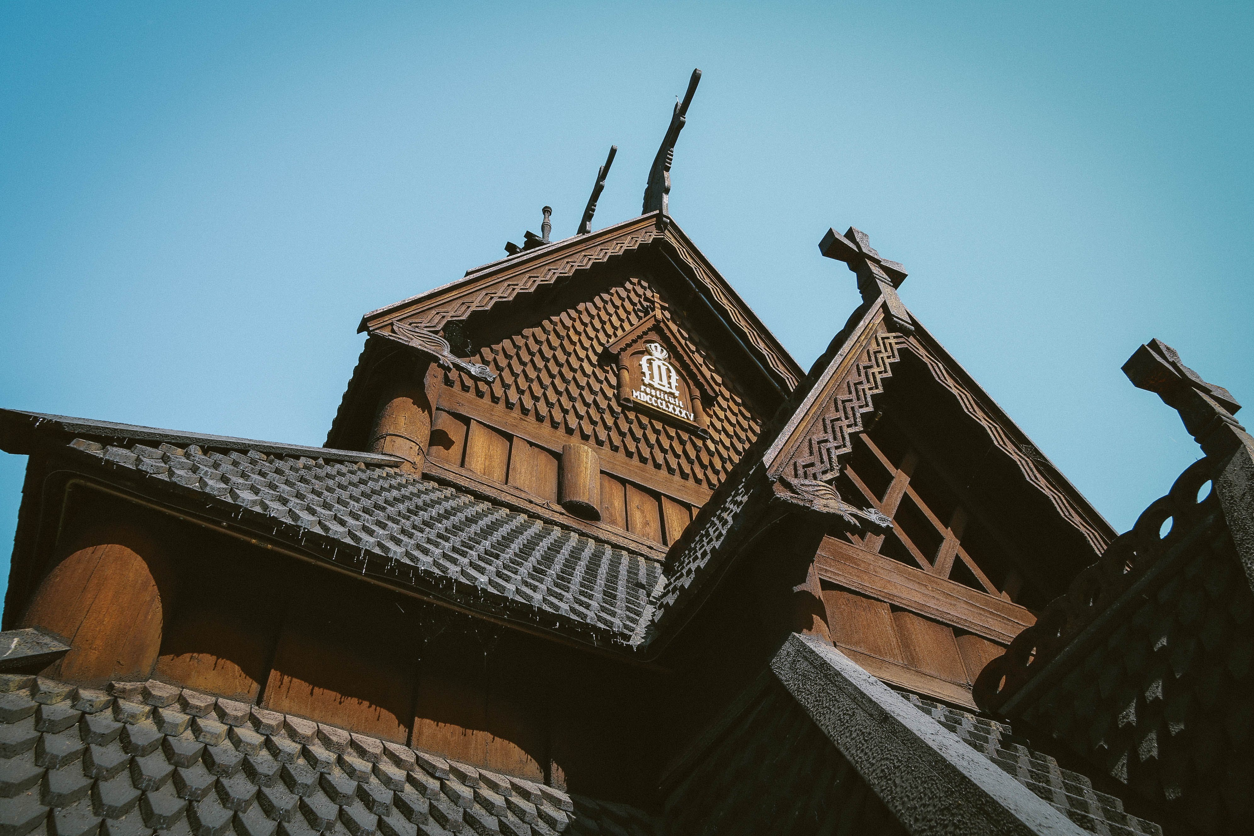 Free stock photo of architecture, carved wood, church building, northern church