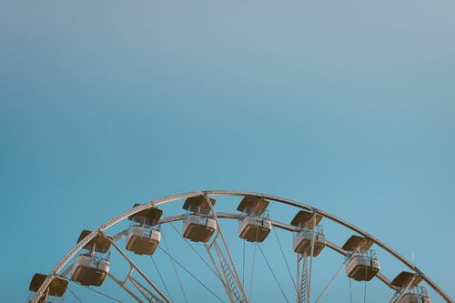 관람차, 레크리에이션, 맑은 하늘, 엔터테인먼트의 무료 스톡 사진