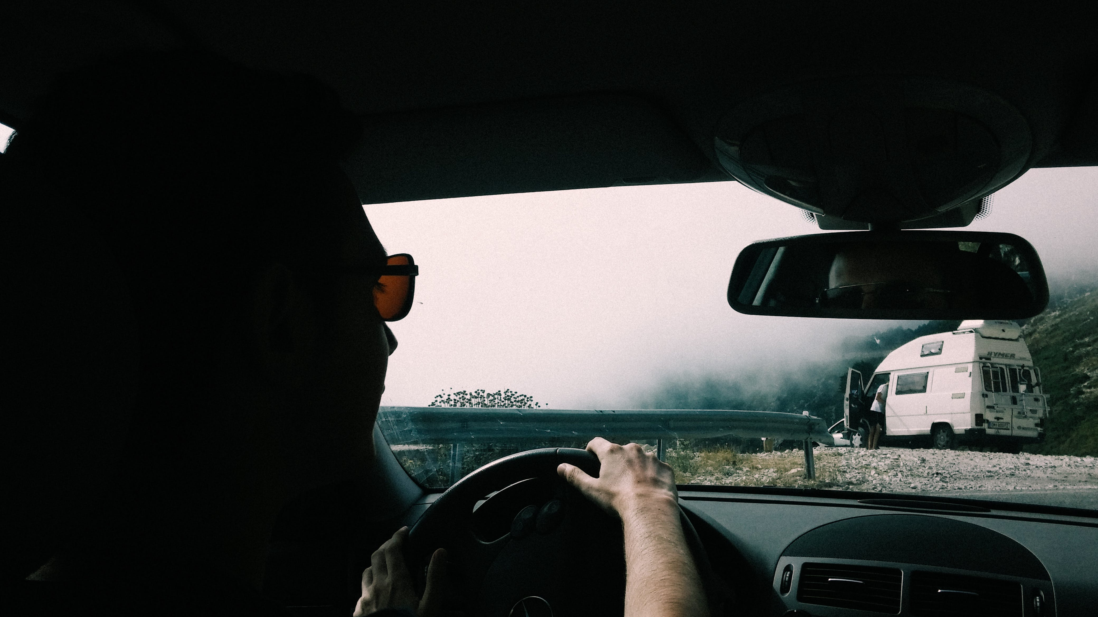 Free stock photo of road, sunglasses, traveling, fog