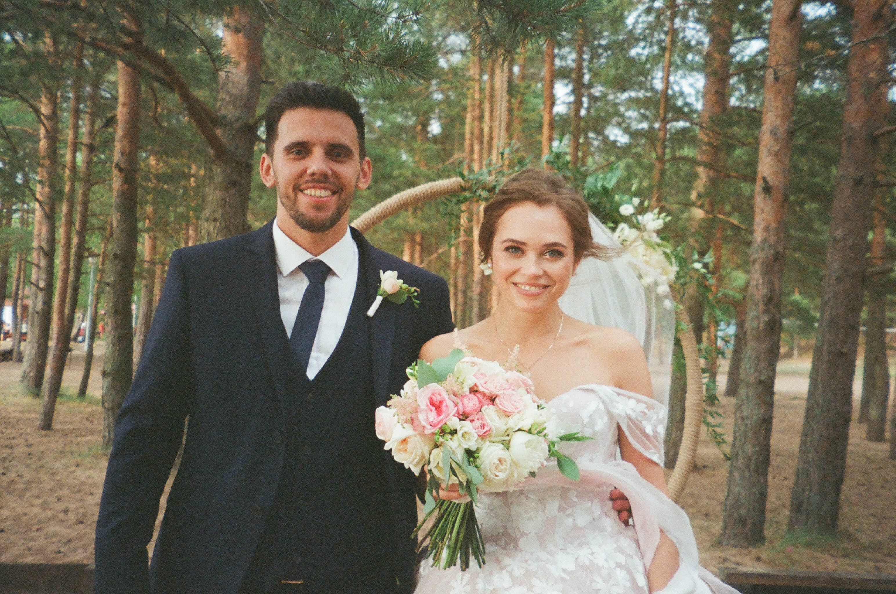 Bride and Groom Taking Photo