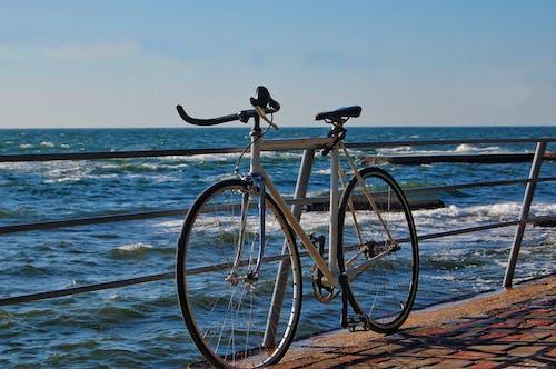 Бесплатное стоковое фото с велосипед, море, пляж, Приключение