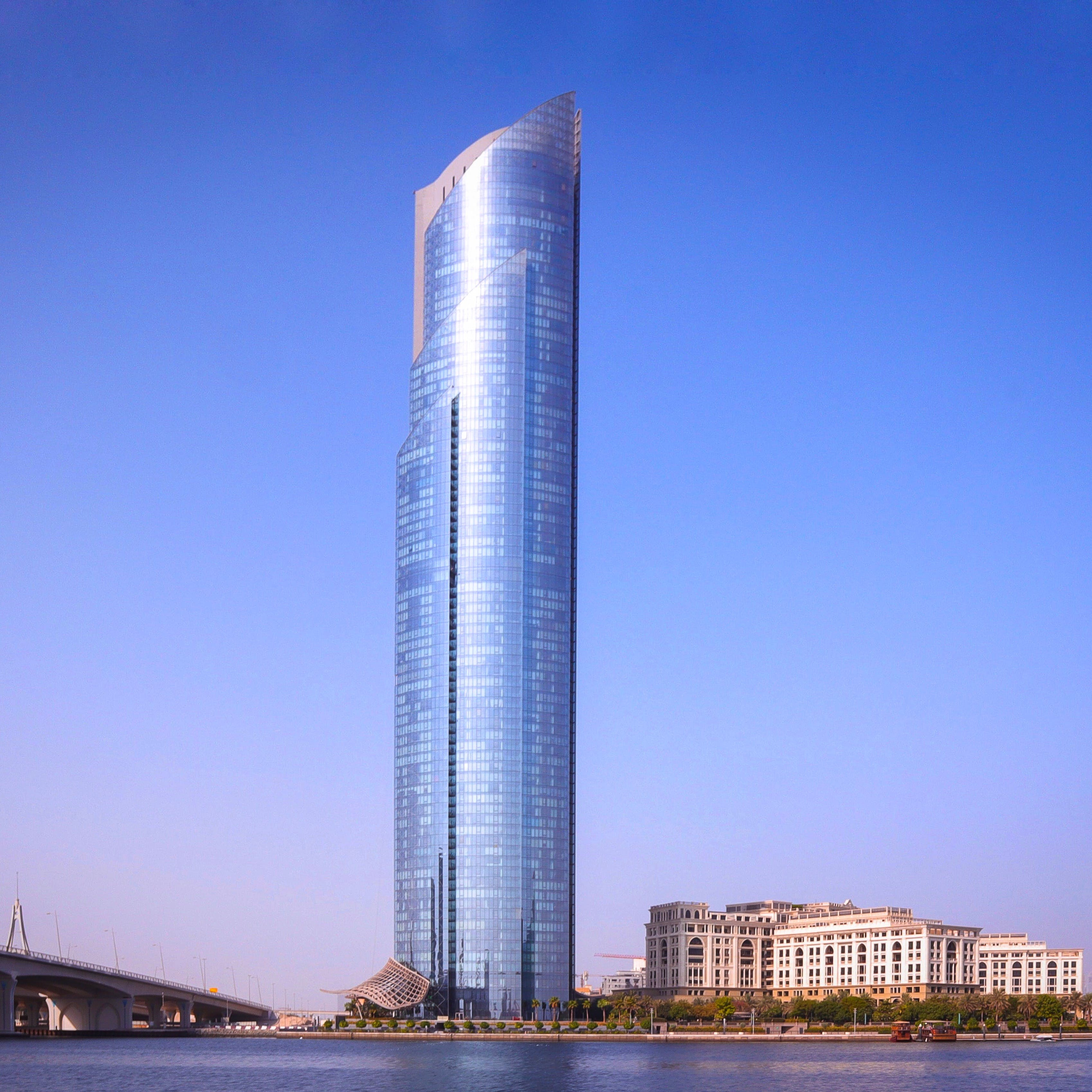 High-rise Glass Building Near Body of Water