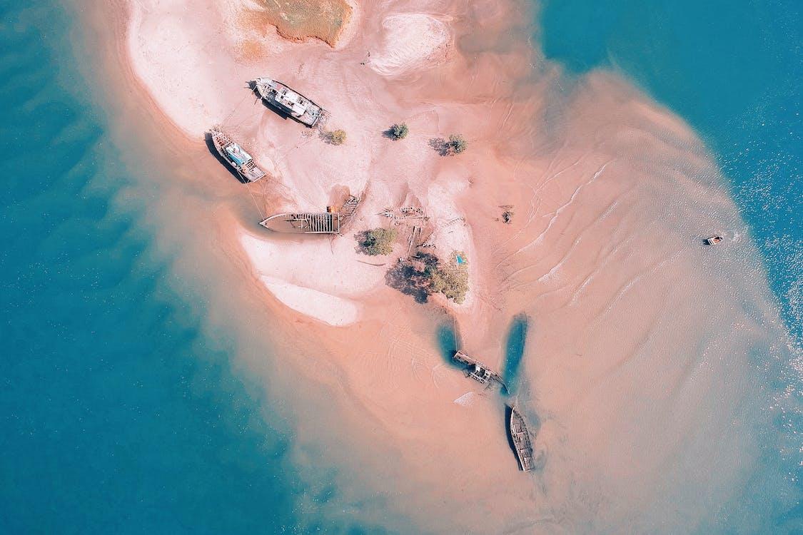 letecký záber, more, oceán