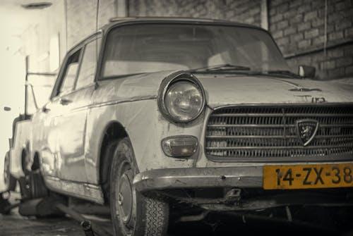 Základová fotografie zdarma na téma auto, černobílá, rozpad, staromilec