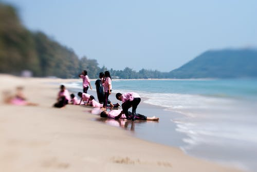 Základová fotografie zdarma na téma holky, lensbaby, moře, oceán