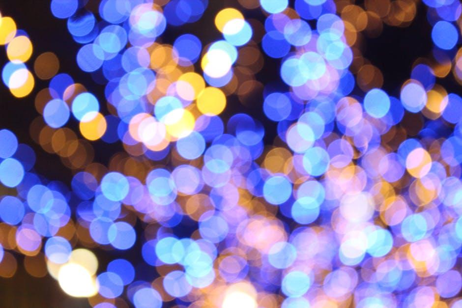 Light pattern abstract blur