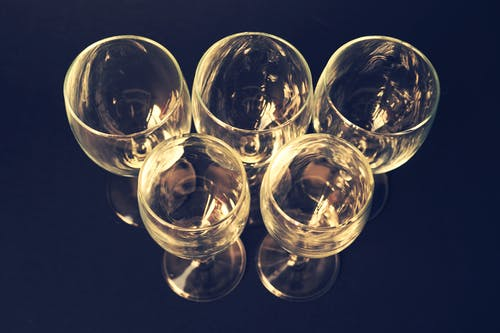 Free stock photo of above, close-up view, olympic, wine glasses