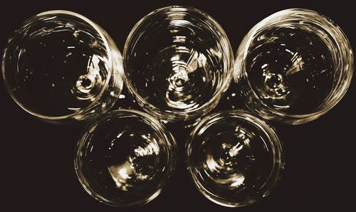 Free stock photo of black and white, wine glasses