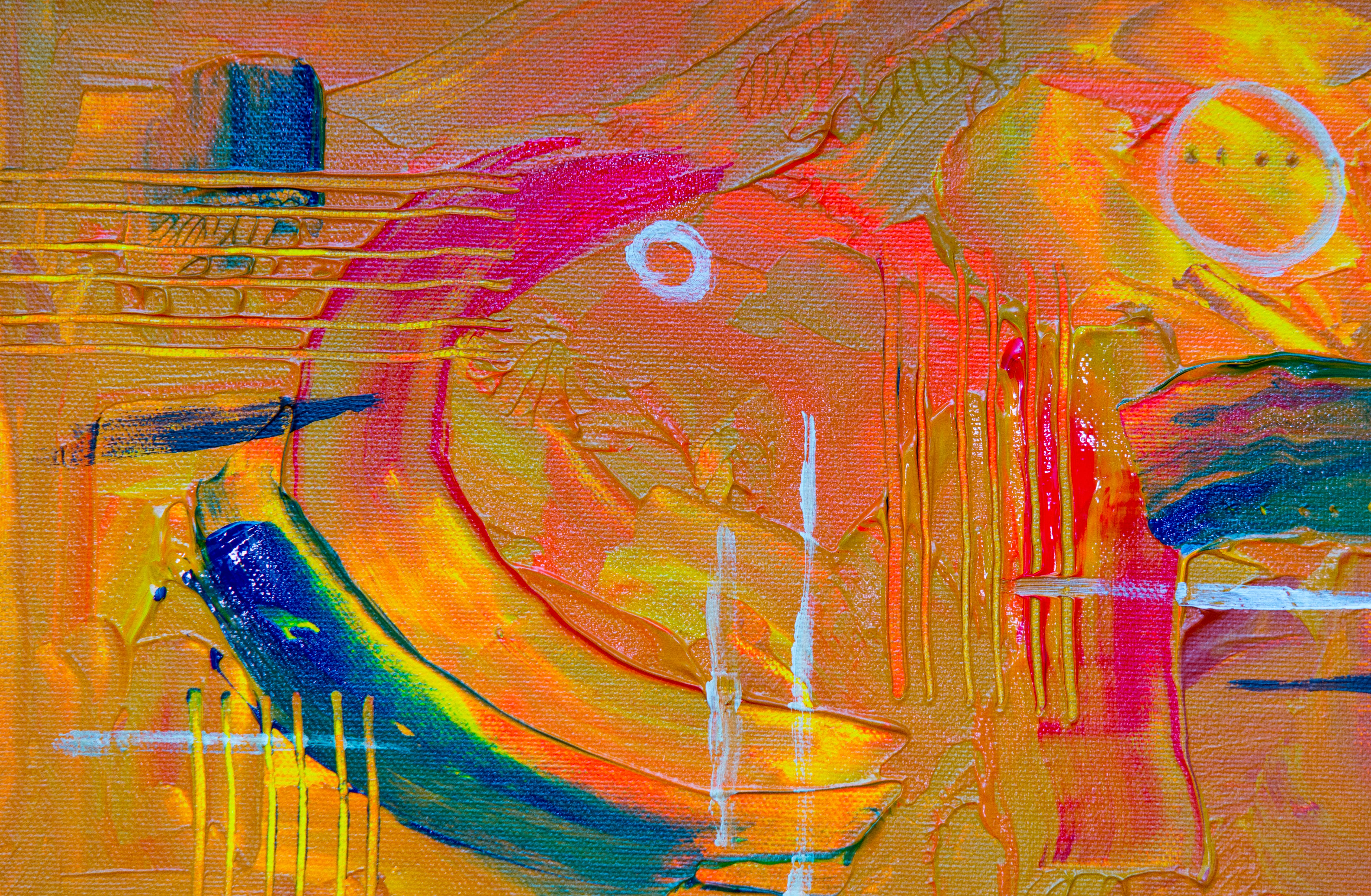 Close-up Photography Of Multi-coloured Abstract Painting