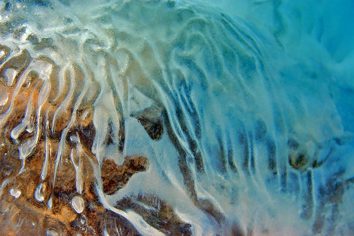 bleu, eau, froid