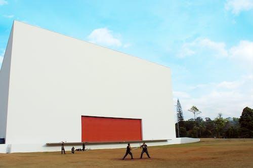Darmowe zdjęcie z galerii z auditorio ibirapuera, bawić się, błękitne niebo, burza