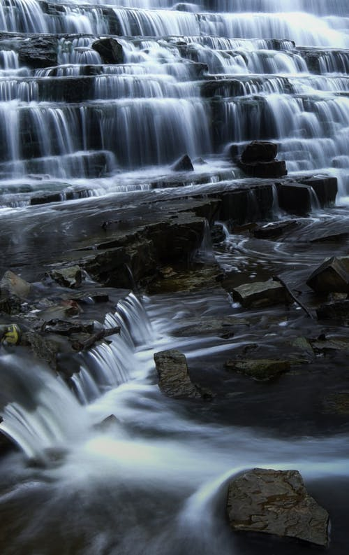 Imagine de stoc gratuită din apă, cascade, estompare, expunere lungă