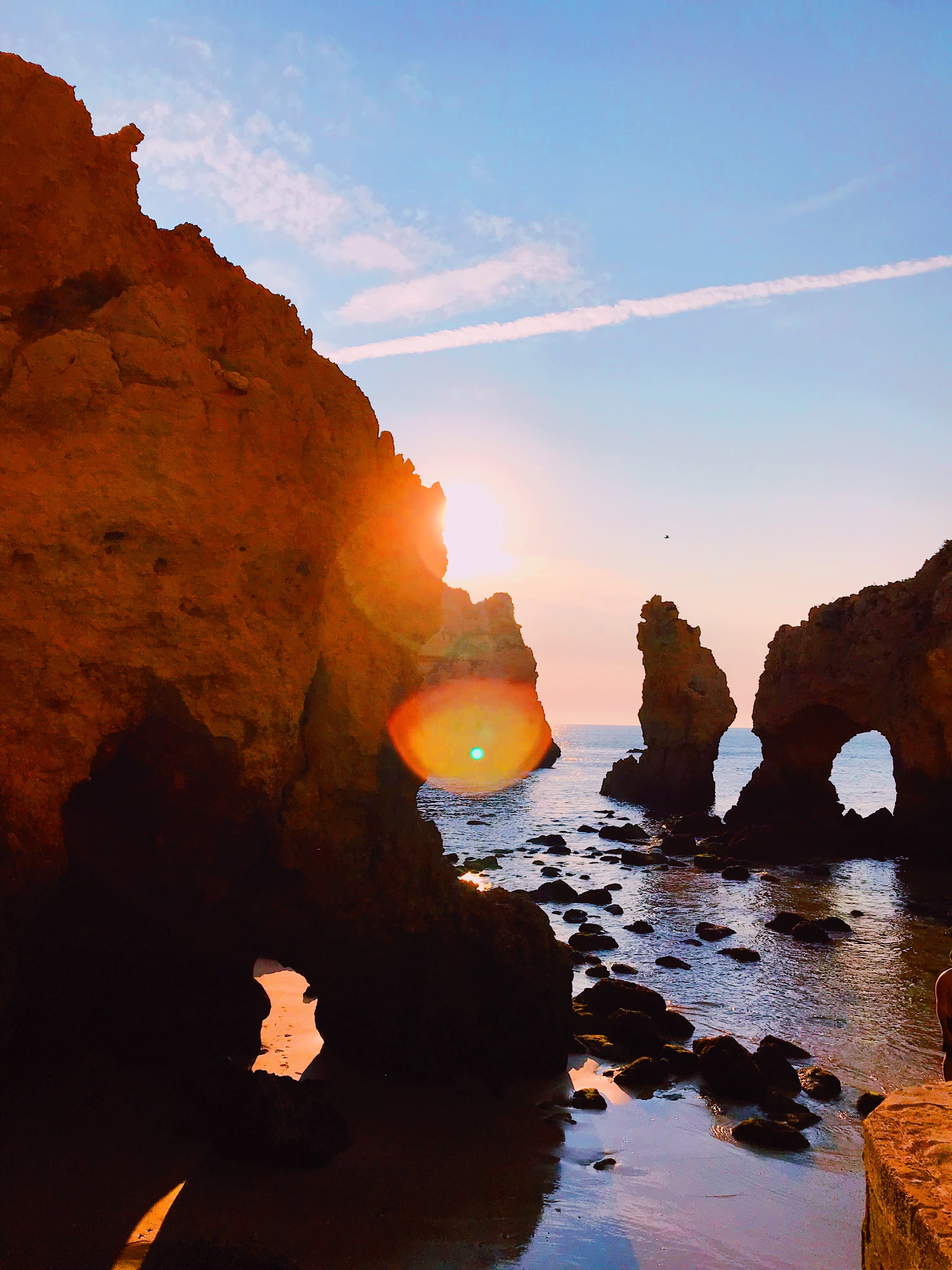 Rock Formation Near the Ocean Photography