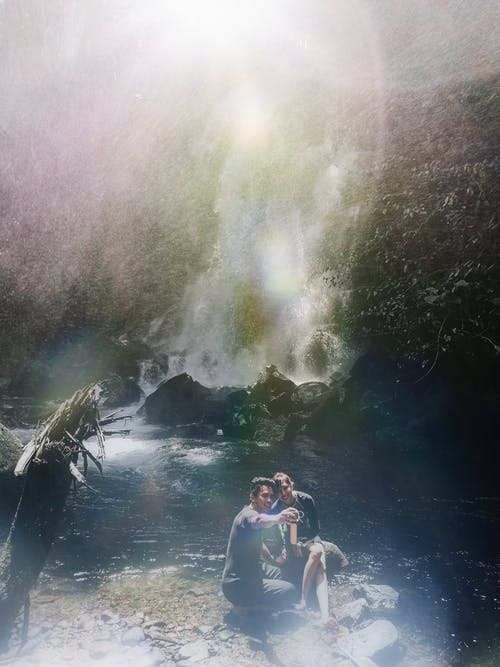 Free stock photo of asian couple, couple, falls, love
