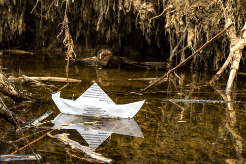 Free stock photo of mysterious, origami, paper boat