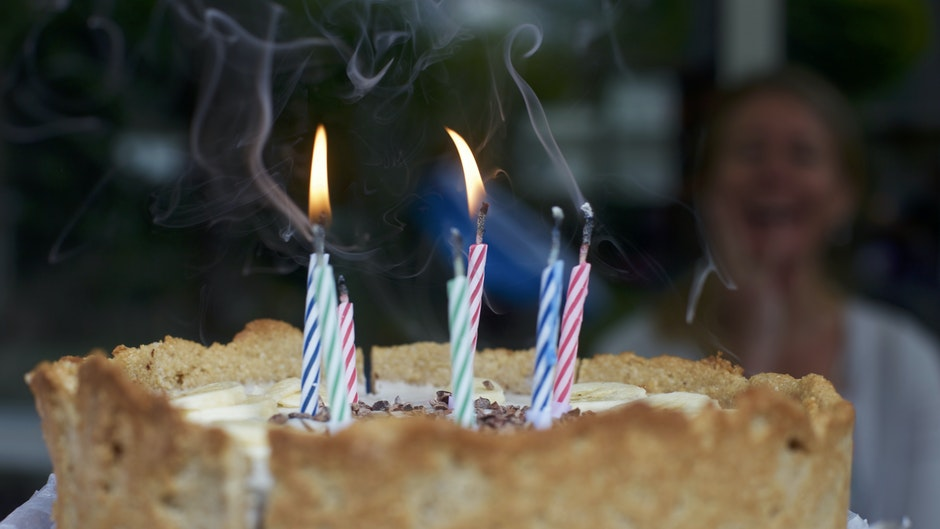birthday, birthday cake, blowing