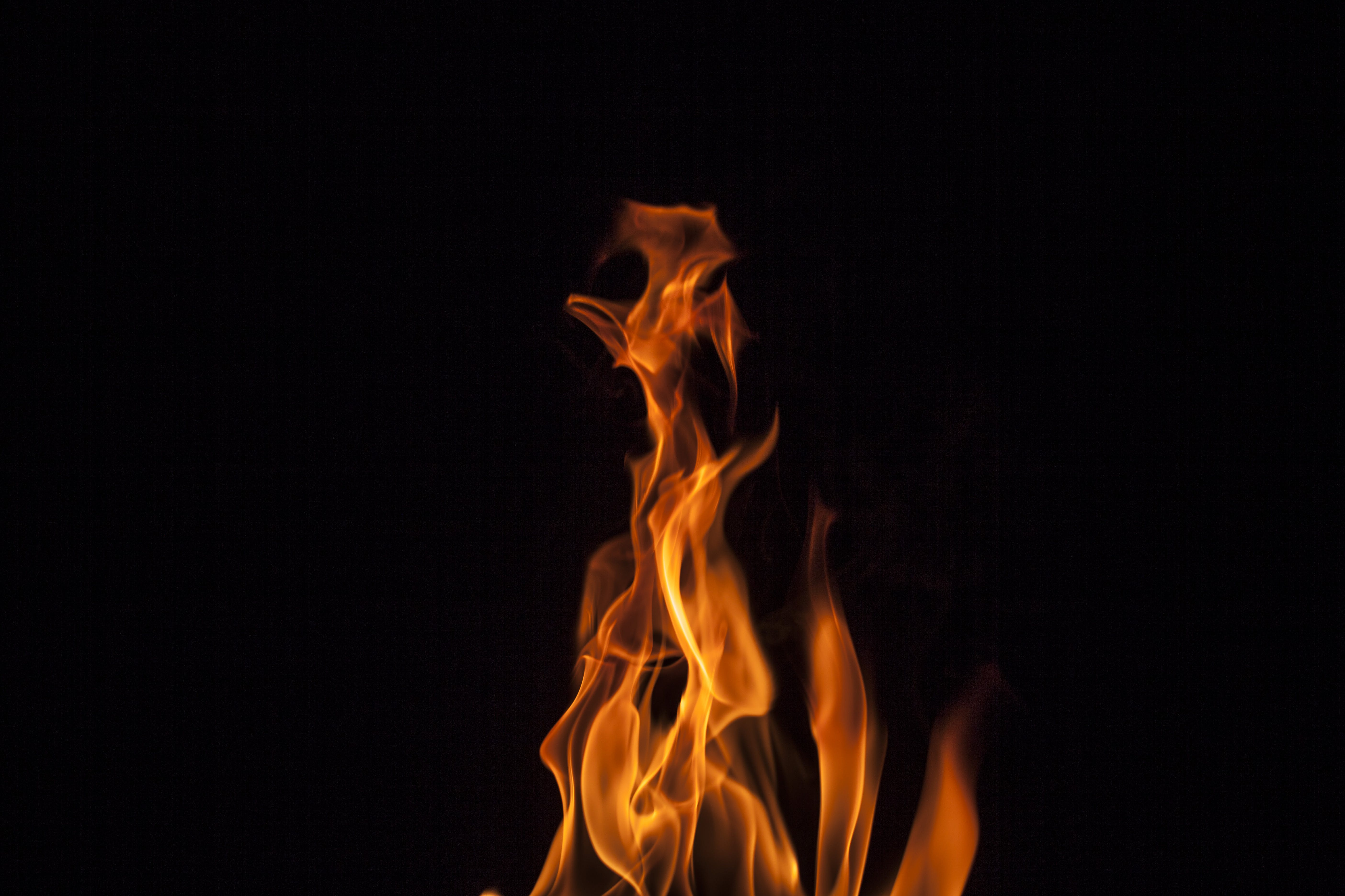 Closeup Photo of Fire during Night Time