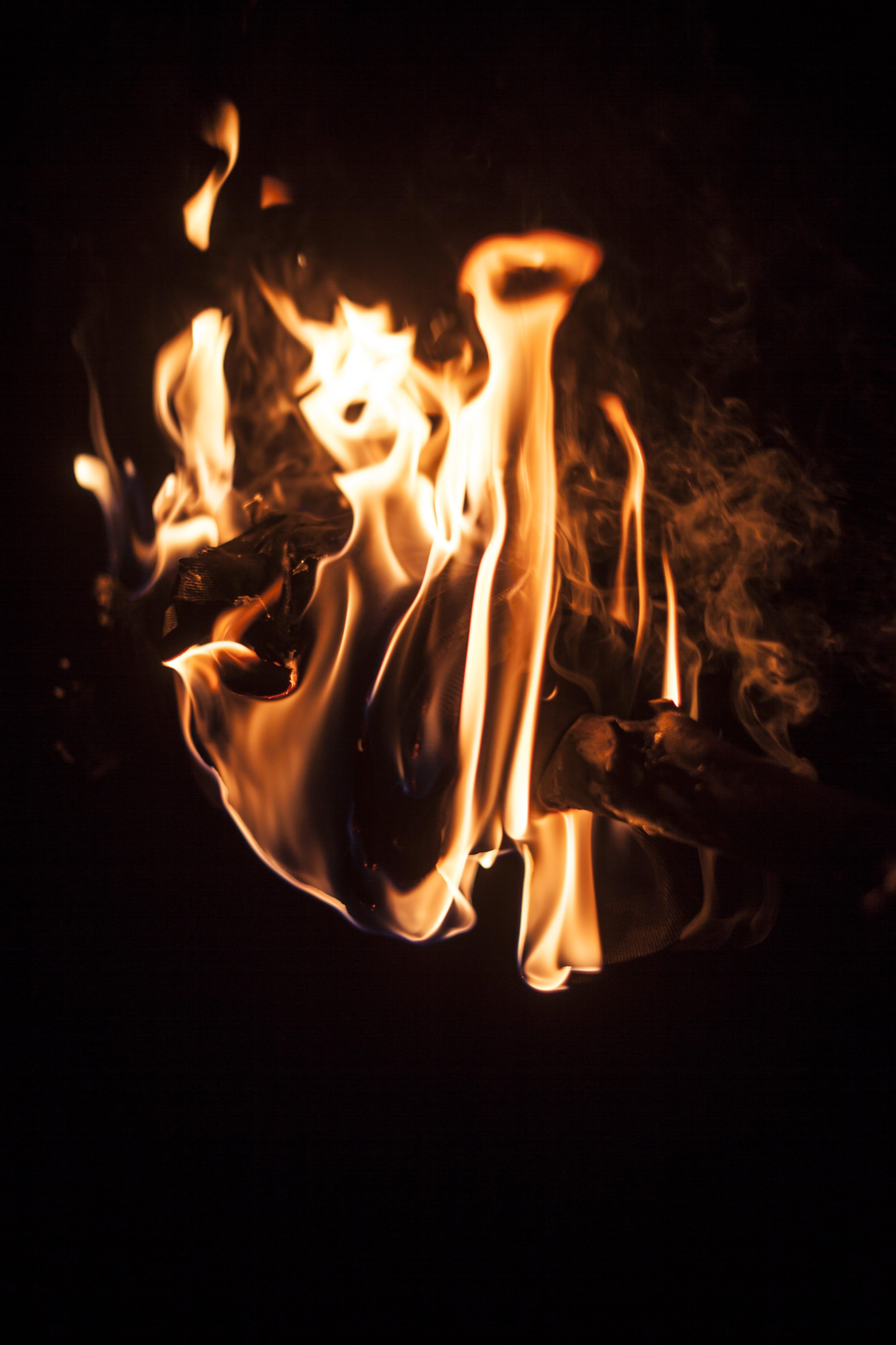 Close-up Photography Of Bonfire