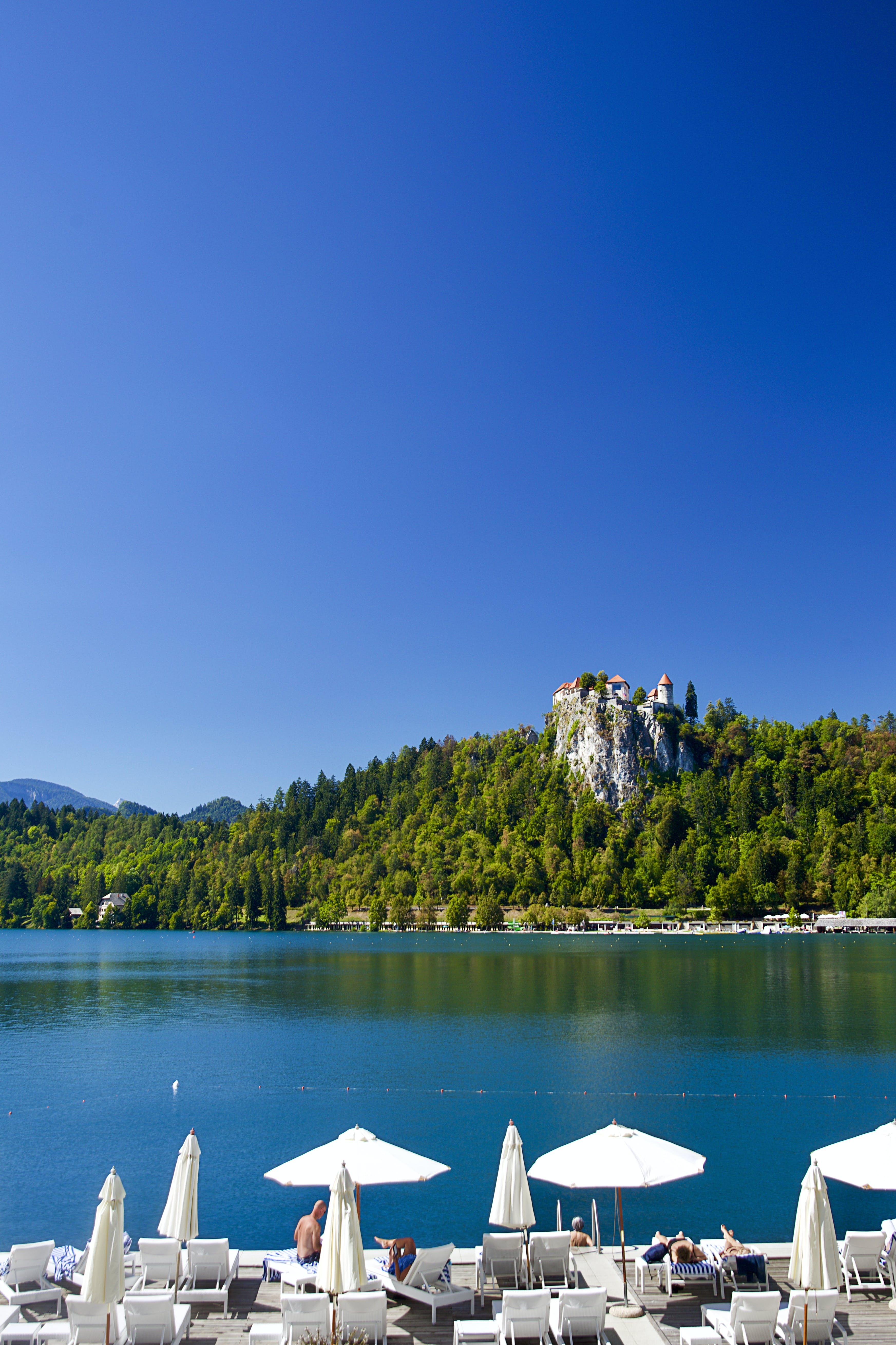 Free stock photo of bled, blue sky, castle, cliff